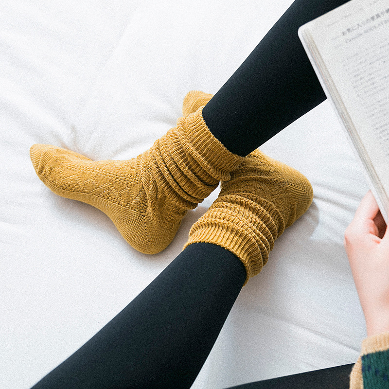 Dreamlikelin Winter Women's Warm Long Socks Thick Woolen Knitting Japanese College Style Loose Socks