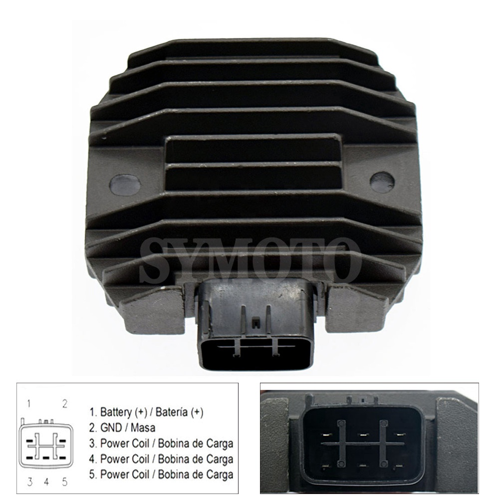 For YAMAHA Grizzly 660 YFM660F YFM66 2002 2003 2004 2005 2006 2007 2008 <font><b>660cc</b></font> Motorcycle Voltage Regulator Rectifier 12v image
