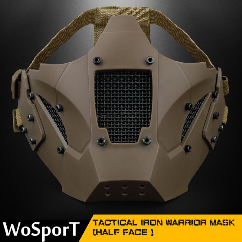 Half Face Breathable Military Tactical Mask Hunting Protection Mask For Airsoft  CS Hunting Military Army  Paintball Accessories