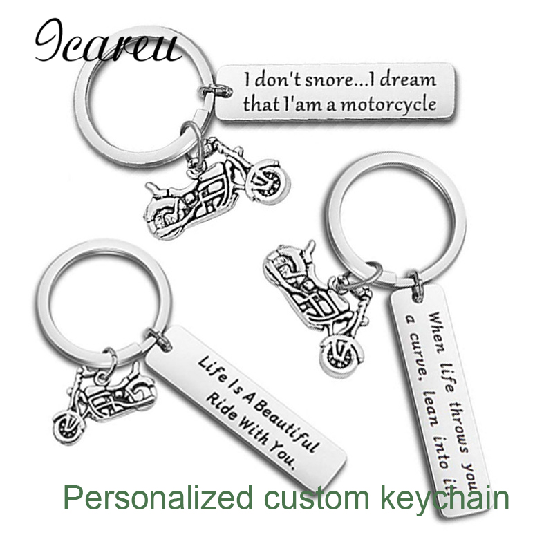 Personalized Name Phone Number Anti-lost Keychain Customized Keyring For Car Name For Men Women Gift Key Chain