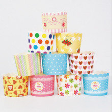 50 Pcs Muffin Cupcake Paper Cups Party Wedding Birthday Decoration Disposable Cake Tools