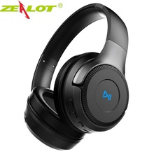 ZEALOT B26T kablosuz kulaklıklar bilgisayar telefonu için Bluetooth kulaklık Stereo bas oyun mikrofonlu kulaklık, destek TF kart
