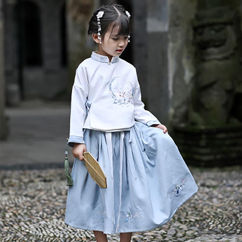 2019 Girls Ancient Chinese Costume Kids Child Hanfu Dress Clothing Folk Dance Performance Chinese Traditional Dress For Girls