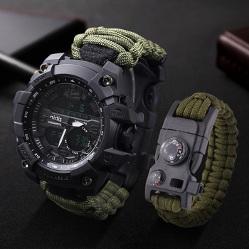 LED Military Watch with Compass 30M Waterproof Men Sport Watch Men Sport Watch Shock Sport Watches Electronic Watches