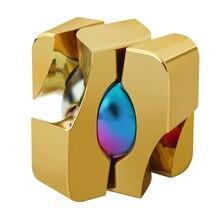 Подарочная игрушка для взрослых, портативный вращающийся круг из алюминиевого сплава, обучающий магический куб, для снятия стресса, для студентов, интересный