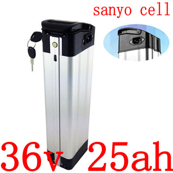 36V 500W 1000W battery36V 25AH electric bicycle battery 36v 10ah 14ah 17.5ah 21ah 25ah 28ah Lithium Ebike battery use sanyo cell image