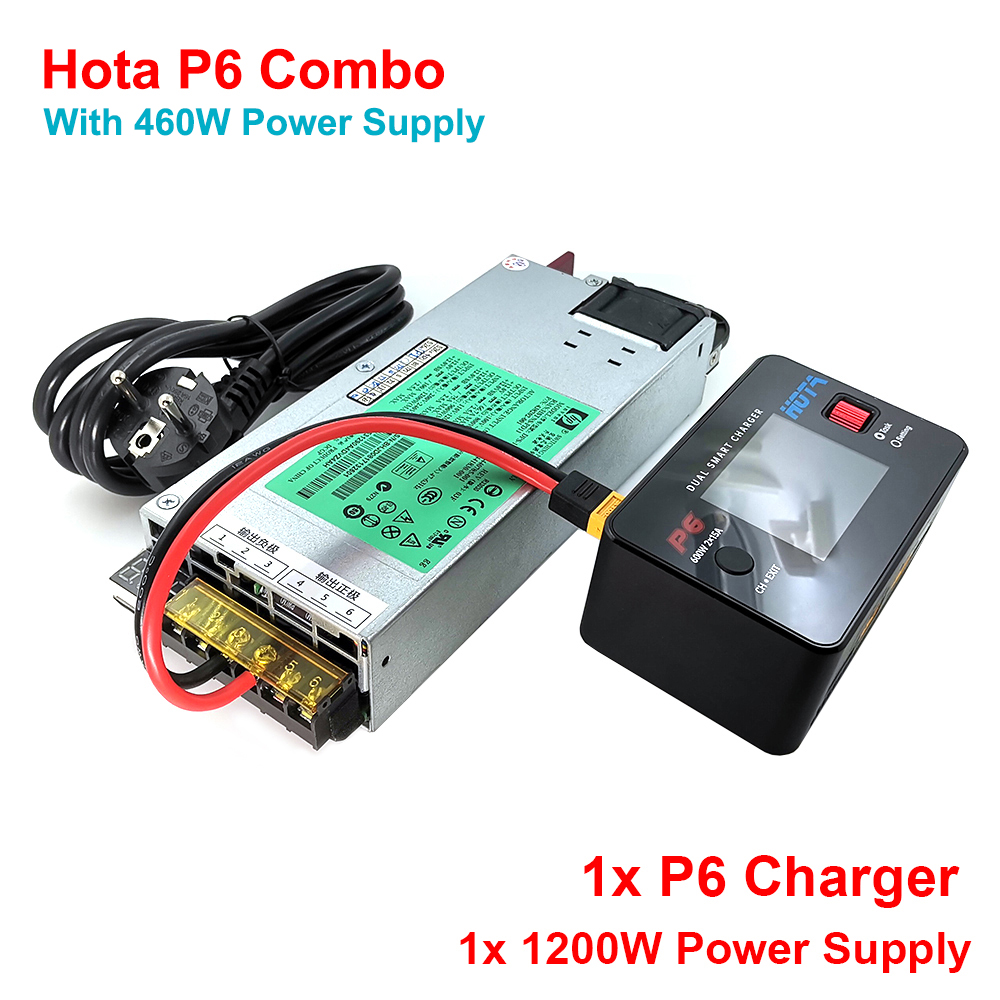 HOTA P6 600W 15X2 Dual Channel Smart Charger + 1200W Power Supply