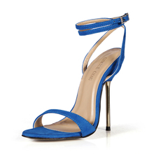Summer New 11cm High Heeled Sandal Fashion Women Sandals Stiletto Thin heel Ankle Strap Open Toe Sexy Party Dress Lady Shoe 5-i5