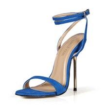 Summer New 11cm High Heeled Sandal Fashion Women Sandals Stiletto Thin heel Ankle Strap Open Toe Sexy Party Dress Lady Shoe 5-i5 цены онлайн