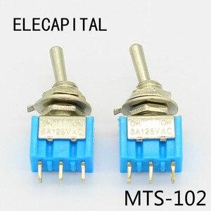 5 шт. мини MTS-102 3-контактный SPDT ON-ON 6A 125VAC миниатюрные тумблеры