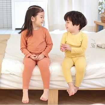 baby boys girls soft sleepwear toddler girl clothes cotton plain casual pajamas unisex children kids nightwear outfits MB523 1
