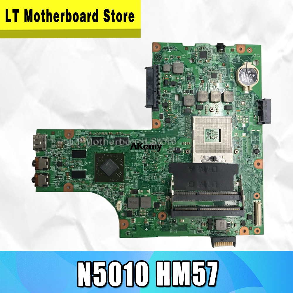 09909-1 motherbo For <font><b>DELL</b></font> inspiron <font><b>N5010</b></font> <font><b>motherboard</b></font> CN-0VX53T CN-052F31 09909-1 48.4HH01.011 HM57 GPU original Test Free CPU image