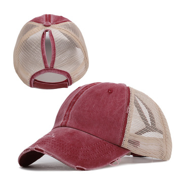Women's Cap Women's Baseball Cap Women's Summer Hat Ponytail Snapback Sequins Sport-Caps Spring Vacation Women Cotton Comfort