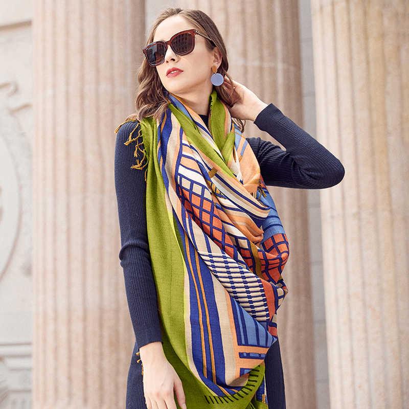 Роскошный бренд пашмины Echarp кашемировый шарф обертывание теплая шаль Зимний шарф женские шарфы кисточки длинное одеяло Cachecol Foulard