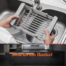 Кухонная выдвижная корзина для слива раковины из нержавеющей