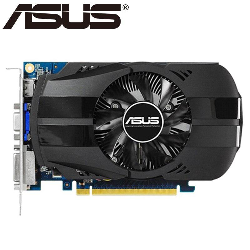 ASUS - original display card gt730, 2GB, sddr3, for NVIDIA, geforce, GPU, game, DVI, VGA, second hand card sale