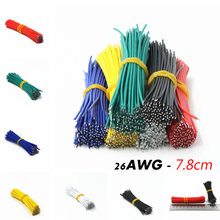 цены 120pcs/lot 24AWG Tin-Plated Breadboard PCB Solder Cable 24AWG 8cm Fly Jumper Wire Tin Conductor Wires 1007-24AWG Connector Cable