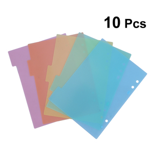 2 Sets Index Page Divider Plastic Colorful Classification Page Tab for Notebook Memo (A5-5pcs/Set)