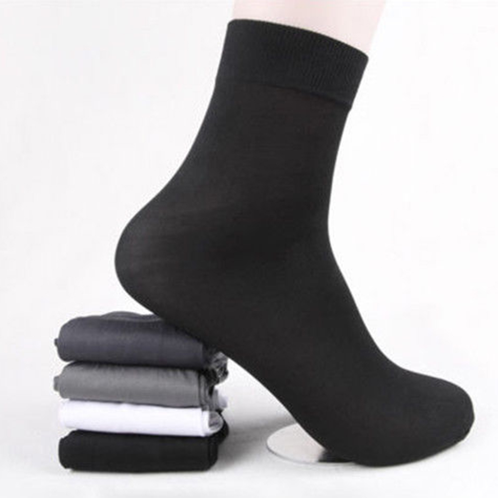 Set Of 10 Pairs Summer Men's Business Thin Section In The Tube Short Stocking Bamboo Fiber Sliver Sock Foot Bath Socks Wholesale