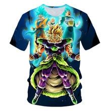 Super Saiyan 3D T Shirt Anime Dragon Ball Z Goku Summer Fashion Tee Tops Kids/Boys Printed Clothes Children Cartoon T-shirt