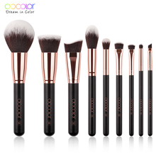 Docolor Makeup Brushes Set Profesional Powder Foundation Blush Blending Eye shadow Make Up Brush Cosmetics Beauty Tools цены онлайн