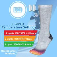 Hot 1pair Winter Warm Men Women Usb Charging Hot Long Tube Socks Lithium Battery Ski Heating Foot Artifact Washable Unisex Sock
