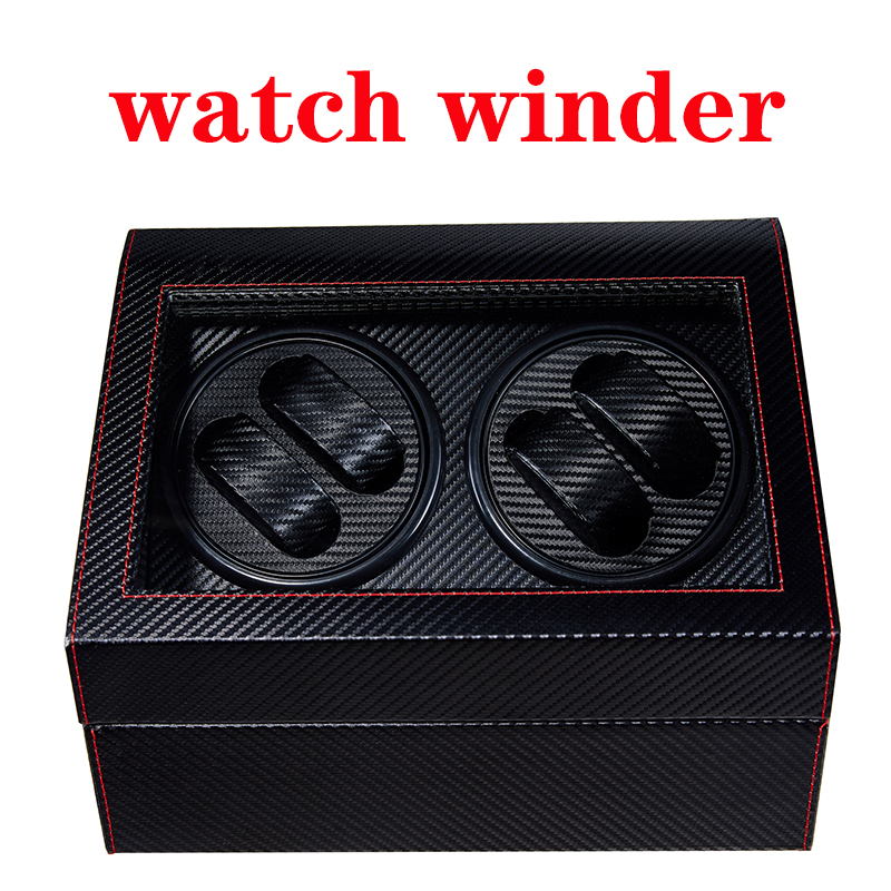2020 Top Luxury Fashion High Quality Watch Winder Open Motor Stop Automatic Watch Display Box Winders Wood Leather Box Winder