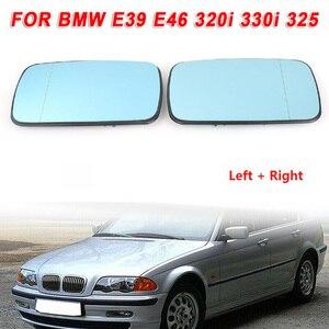 2 шт. автомобильное внешнее синее боковое зеркало заднего вида для BMW E39 E46 320i 330i 325