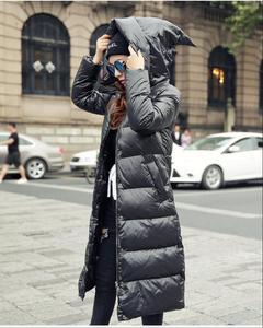 Image 1 - 2019new Slim était בשר טחון femmes נואר à capuche doudoune גרוס mètres épais manteau