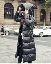2019new Sottile était tritare femmes noir à capuche doudoune gros mètres épais manteau