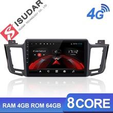 Isudar H53 4G Android 1 Din Auto Radio For Toyota/RAV4 RAV 4 2013- Car Multimedia 8 Core RAM 4GB ROM 64GB GPS DVR Camera IPS FM мобильный телефон leagoo lead 5 leagoo 5 lead5 3g mtk6582 android 4 4 1 8 rom 8 0mp 5 0 ips gps