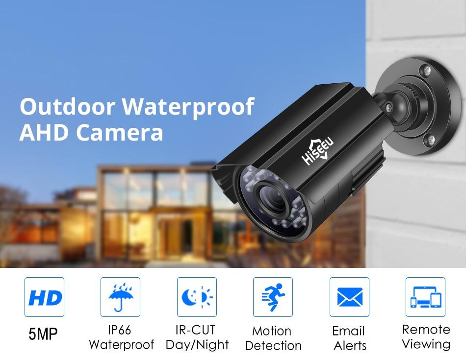 Hiseeu 1080P Waterproof Camera AHD