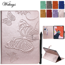 Wekays For Apple Ipad Pro 12.9 2018 Cartoon Butterfly Leather Fundas Case For Coque Apple Ipad Pro 12.9 inch 2018 Cover Cases