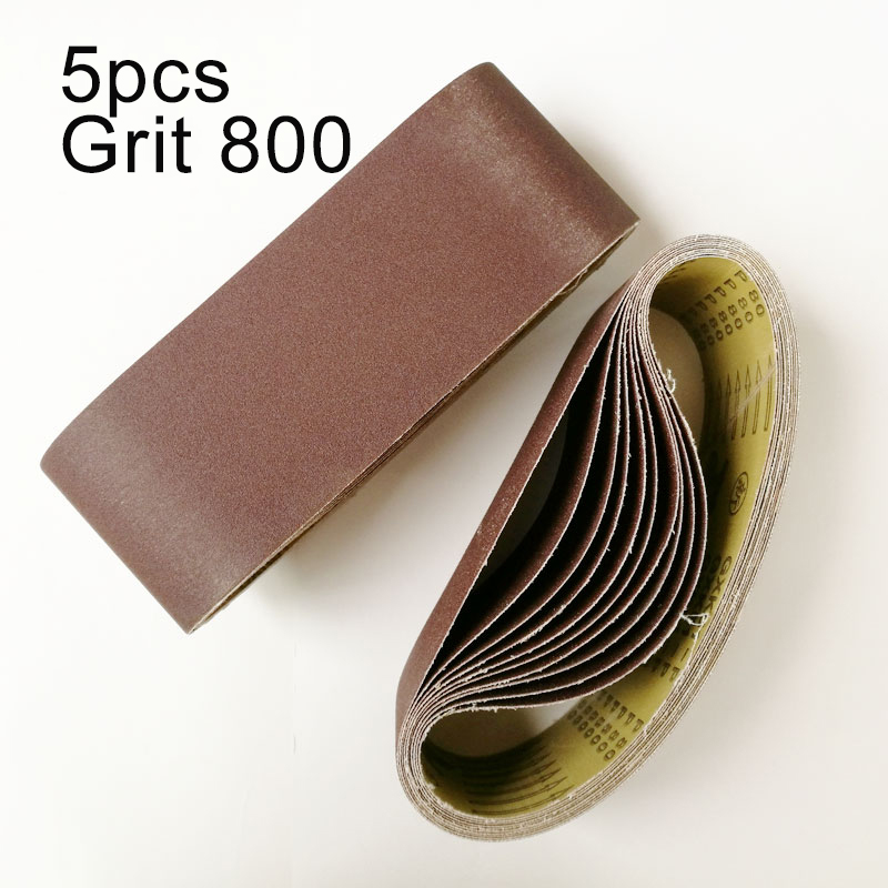 5pcs High Quality 100 * 610mm Sanding Belts Aluminum Oxide Sandpapers Grinding