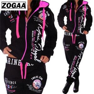 Image 4 - ZOGAA Mode Trainingsanzug Für Frauen frauen Casual Sportwear Mit Kapuze Sweatshirt und Hosen frauen Anzug frauen zwei stück outfits