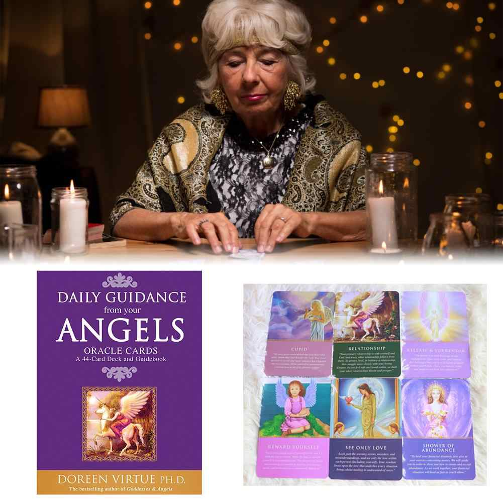 44 Sheets Daily Guidance From Your Angels Oracle Tarot Cards English Version Best-selling Oracle Card Deck Dropshipping