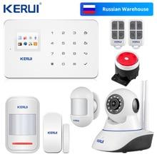Kerui G18 gsm警報システムtftアンドロイドiosアプリタッチパッドandroid isoアプリスマートホーム盗難警報システムdiyモーションセンサー