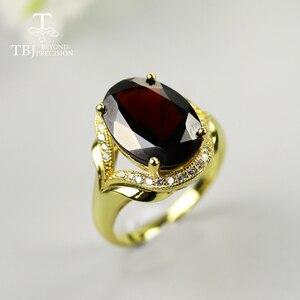 7ct czarny granat pierścień owalny 10*14mm naturalny kamień szlachetny biżuteria 925 sterling silver fine Jewelry dla mamy najlepszy prezent dzień matki