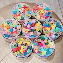 20PCS/Set New Girls Cute Translucent Colorful Flower Small Hair Claws Lovely Hair Clip Headband Hairpin Fashion Hair Accessories