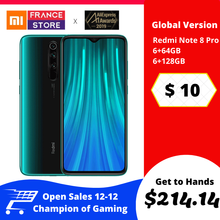 "Redmi Note 8 Pro Xiaomi Global Version 6GB 64 GB/128 GB Smartphone G90T Octa Core 6.53"" 64MP 4500 MAH NFC Ponsel Android(Hong Kong,China)"
