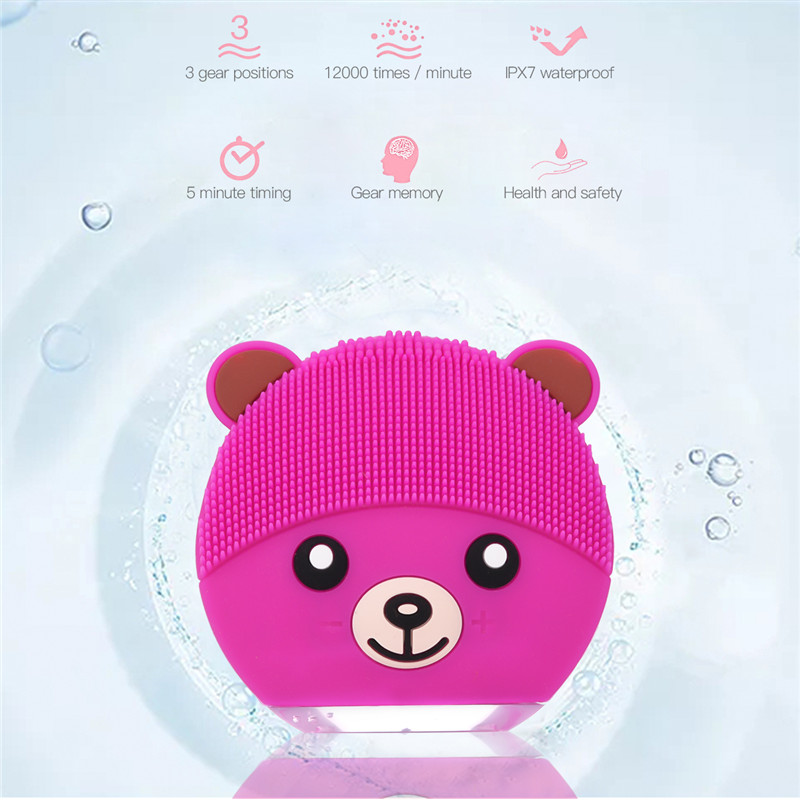 Electric Facial Cleaning Brush Waterproof Silicone Sonic Vibration Face Cleaner Skin Care Massager Beauty Device Beauty Care