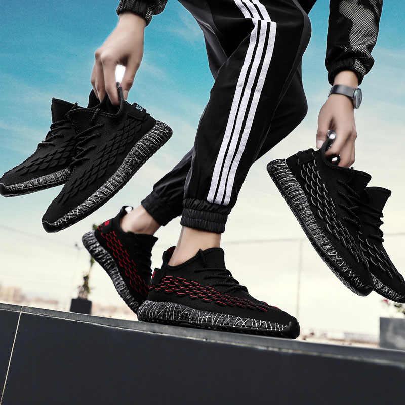 Puimentiua hombre zapatillas transpirables Casual antideslizantes zapatos de encaje resistente al desgaste verano deportes al aire libre Zapatillas de malla de aire zapatos
