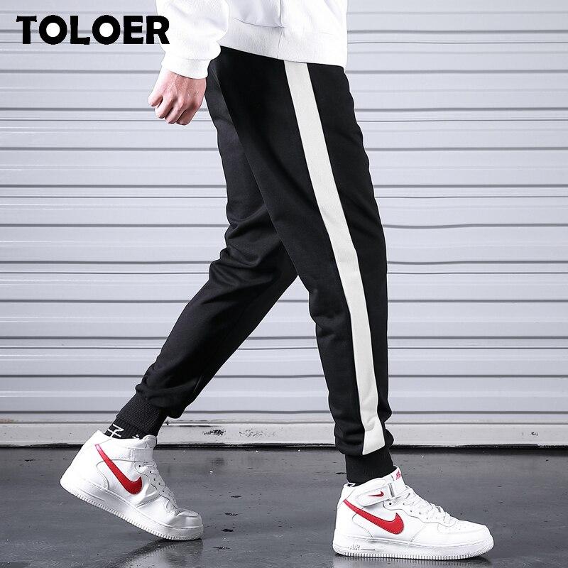 2020 Spring Men Joggers Pants Brand Casual Striped Male Trousers Black Cotton Sweatpants Mens New Fitness Workout Pantalon Homme