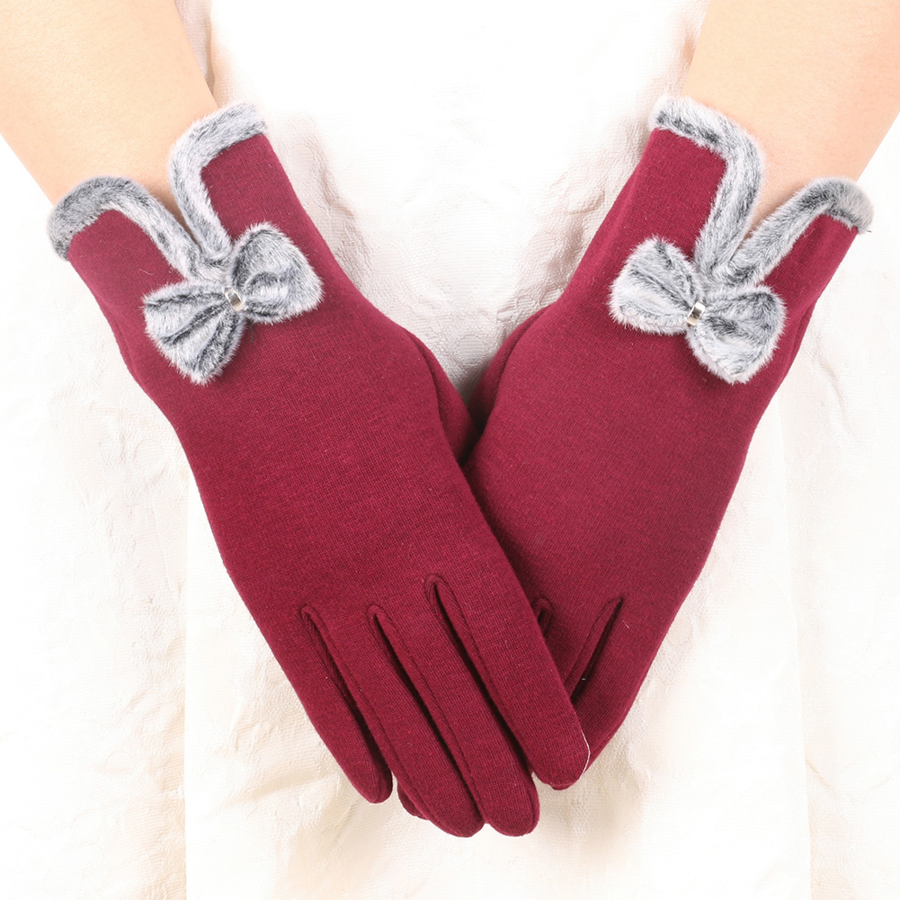 Frauen Damen <font><b>Winter</b></font> <font><b>Warme</b></font> Dicke Weiche <font><b>Cashmere</b></font> Touch Screen Fleece Handschuhe für Outdoor Activties Fleece Weibliche Mode Handschuhe image