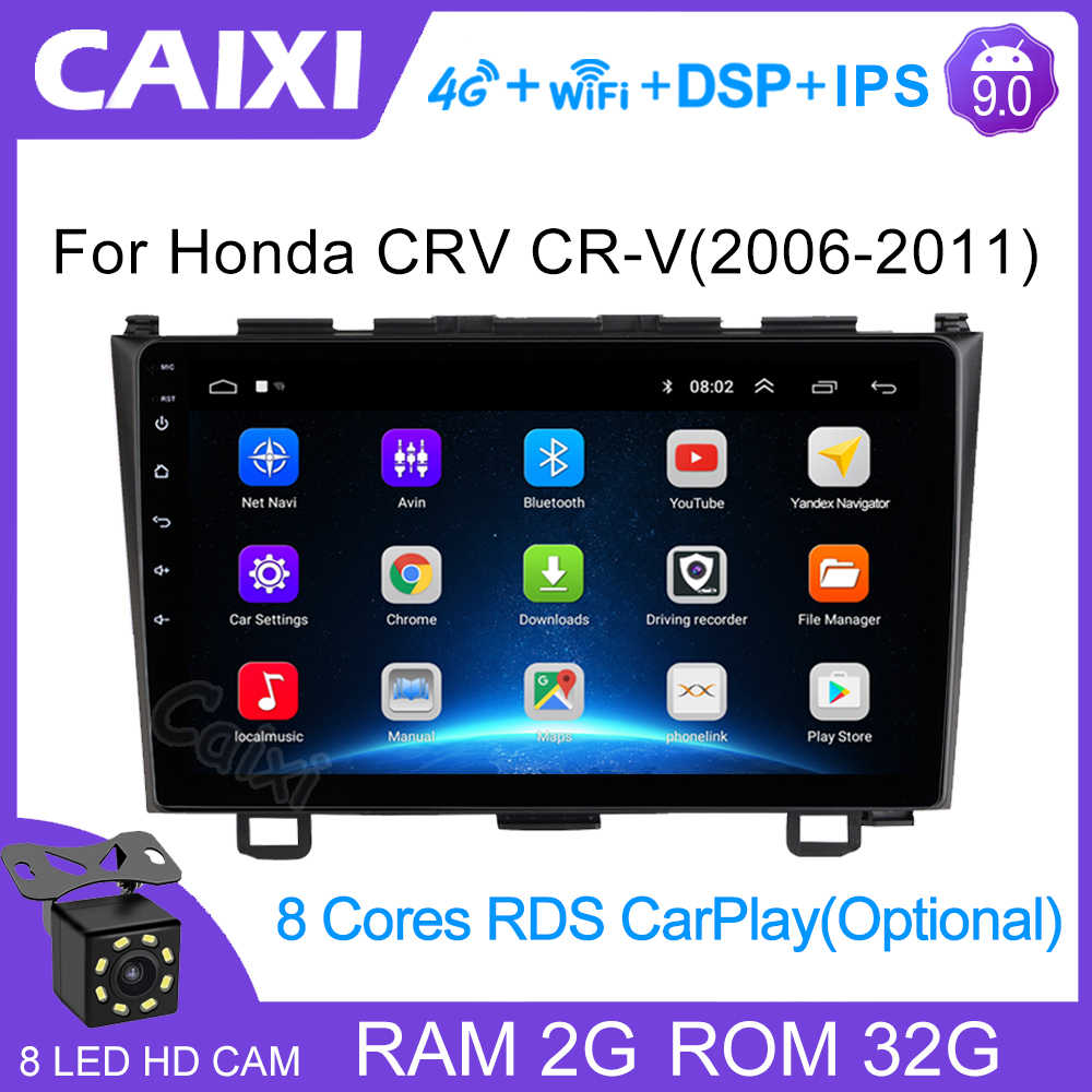2 din Android 9 pollici 2GB di RAM Autoradio Multimedia Video Player di Navigazione GPS Per Honda CRV CR-V 3 RE 2006 2008 2010 2012
