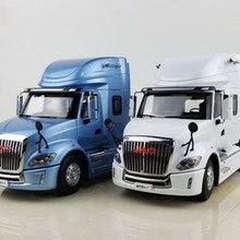 Коллекционная модель сплава подарок 1:24 Масштаб JAC GALLOP V7 Американский длинный для трактора, прицепа, грузовика транспортных средств литья под давлением игрушка модель украшения