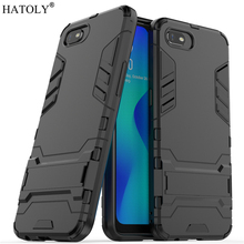 For OPPO Realme C2 Case Rubber Robot Armor Protective Shell Hard PC Back Phone Cover for