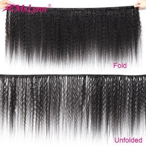 Image 4 - Sapıkça Düz Saç Demetleri Brezilyalı Saç Örgü Demetleri Insan Saç Demetleri 3/4 Mslynn Remy Saç Uzatma Doğal Siyah