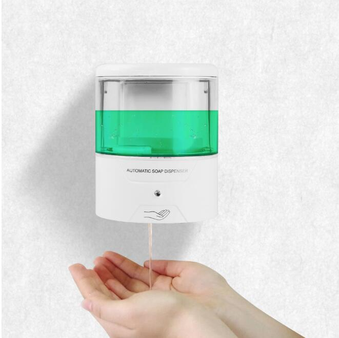 600ML Automatic Smart Sensor Anti-Bacterial Hand Sanitizer Wall Mounted Hand Washer Touchless Soap Dispenser Alcohol Sterilizer