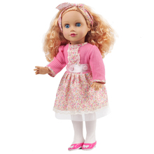 цены 45CM Silicone Reborn Babies Dolls Alive Curl Hair Real Doll Baby Toy 18